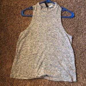 Gray high neck tank top!